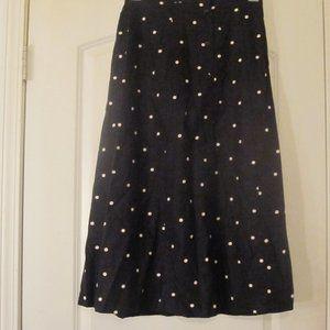 Requirement Petites Linen Blend Skirt Black Sz.PM